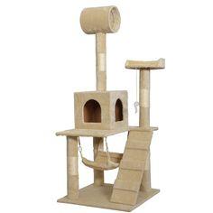 kissemoji 55u0027 cat tree tower scratcher climber condo beige furniture kitten house hammock for cat - Cat Climber