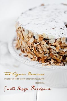 Tort Agnes Bernauer recipe in Polish Pie Cake, No Bake Cake, Cupcakes, Cupcake Cakes, Muffins Frosting, Sweet Recipes, Cake Recipes, Chocolate Babka, Meringue Cake
