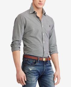 Polo Ralph Lauren Men's Classic Fit Poplin Shirt - Black Check