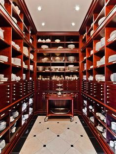 Celine Dion's butler's pantry in her Montreal home.