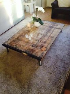 salon blok salontafel recycle teak hout (maatwerk) - tafels, Deco ideeën
