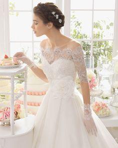 Aragon vestido de novia corte evasé