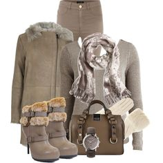 """Boots w/Faux Fur"" by debpat on Polyvore"