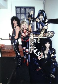 backstage in Los Angeles, Piper, Chris Holmes, Blackie Lawless and Steve Riley 80s Metal Bands, 80s Rock Bands, Hair Metal Bands, 80s Hair Bands, Heavy Metal Rock, Twisted Metal, Heavy Metal Music, The Heavy Band, Jazz