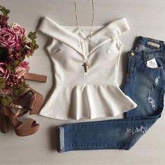 Blouses for women – Lady Dress Designs Big Fashion, Fashion Outfits, Womens Fashion, Casual Outfits, Cute Outfits, Clothes 2018, Ladies Dress Design, Blouses For Women, Women's Blouses