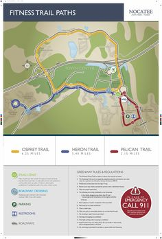 Nocatee Fitness Trail Paths are another great addition to the community. Three unique trails will be mapped out with colored signs pointing in the right direction.