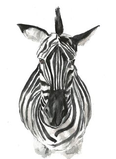 Zebra art #A020. Zebra art print (8x10).Zebra wall art.Zebra picture art.Zebra painting.Zebra face.Safari animals wall art.Zebra pictures for bedroom.Zebra print wall decor.Zebra pictures. Hello! This Print is taken from my original watercolor! Printed on high-quality white paper! Print measures: 8x10 inches. Frame is Not Included.
