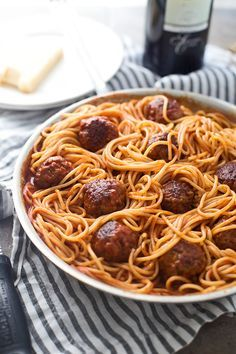 Six Ingredient Spaghetti and Meatballs