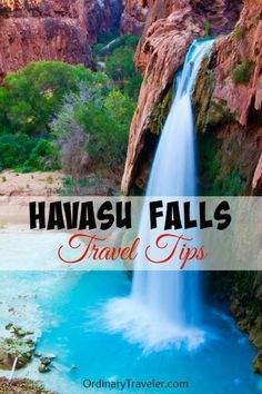 Havasu Falls Travel Tips - Havasupai Canyon Arizona: If you are considering a trip to Havasu Falls, you will want to come prepared -- not only with gear, but also armed with knowledge and tips from those who have gone before you. Vacation Places, Vacation Destinations, Vacation Trips, Vacation Spots, Dream Vacations, Places To Travel, Camping Places, Arches Nationalpark, Yellowstone Nationalpark