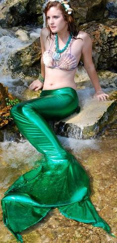 Swimmable Mermaid Tail Costume by mermaiddalyn on Etsy