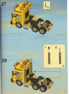 LEGO 7900 Heavy Loader instructions displayed page by page to help you build this amazing LEGO City set Lego Van, Transporter Van, Bus Art, Lego Truck, Lego Challenge, Lego City Sets, Lego Ship, Lego System, Hero Factory
