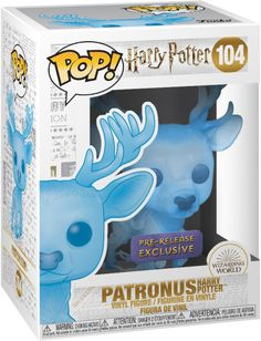 Harry Potter - Patronus Harry Potter - Pre-Release Exclusive Bundled with PET Compatible Extra Rigged Protector Harry Potter Quidditch, Harry Potter Pop Vinyl, Objet Harry Potter, Theme Harry Potter, Figurine Pop Harry Potter, Harry Potter Dolls, Harry Potter Anime, Funko Pop Harry Potter, Pop Figurine