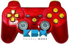 Iron Man PS3 Controller - KwikBoy Modz #customcontroller #moddedcontroller #ironmancontroller #ironman #starkindustries #ps3 #ps3controller