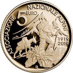 5 euro Centenario dell'Associazione degli Alpini