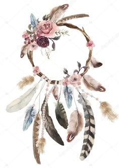 Find Isolated Watercolor Decoration Bohemian Dreamcatcher Boho stock images in HD and millions of other royalty-free stock photos, illustrations and vectors in the Shutterstock collection. Watercolor Flowers, Watercolor Art, Atrapasueños Tattoo, Dream Catcher Art, Image Clipart, Tribal Prints, Bohemian Decor, Canvas Wall Art, Feather