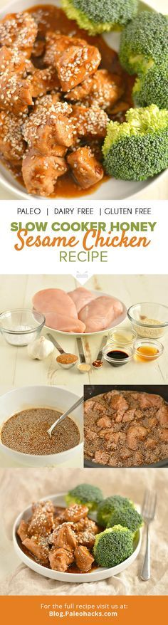 Make healthy takeout at home tonight with this mouthwatering Slow Cooker Honey Sesame Chicken! For the full recipe, visit us here: http://paleo.co/SLsesamechicken