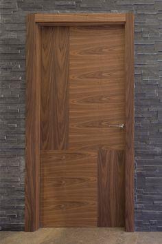 Bespoke, made to measure internal walnut door. Contemporary Internal Doors, Internal Wooden Doors, Flush Door Design, Front Door Design, Bedroom Door Design, Door Design Interior, Single Main Door Designs, Porte Design, Veneer Door