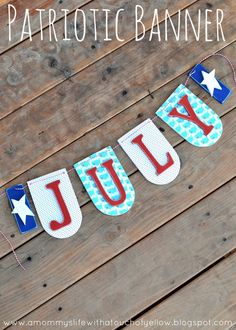 JULY BANNER {Tutorial}