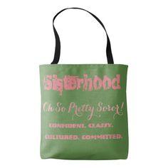 Shop Pink and Green Tote Bag created by StephnTees. Aka Sorority Gifts, Sorority And Fraternity, Sorority Life, Aka Apparel, Alpha Kappa Alpha, Green Life, Green Fashion, Pretty In Pink, Pretty Girls