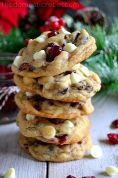 The BEST Soft & Chewy Cranberry White Chocolate Chip Cookies | The Domestic Rebel