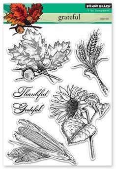 Penny Black Clear Stamps GRATEFUL Set 30-373 zoom image