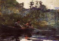 canoeing in the adirondacks by winslow homer