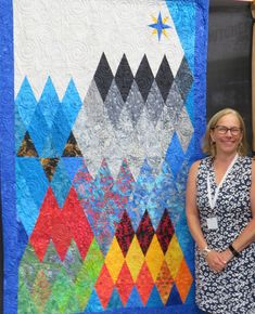 My mom would have been so proud. Here I am with a quilt that I designed at the Festival of Quilts in Birmingham, England. If you are a... Westeros Map, Birmingham England, Game Of Thrones Fans, Quilt Festival, Diamond Quilt, Give It To Me, Presentation, Quilting, Mom