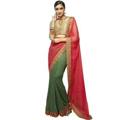 Buy Enchanting Green Resham Work Designer Saree-205 by undefined, on Paytm, Price: Rs.3352?utm_medium=pintrest