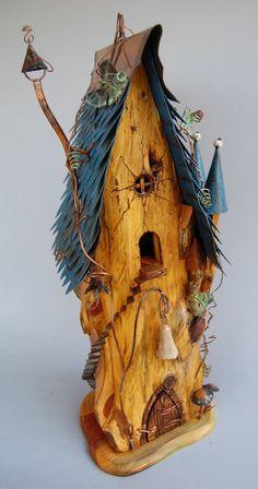 Ideas bird houses ideas diy fairies garden birdhouses for 2019 Birdhouse Designs, Unique Birdhouses, Diy Jardin, Fairy Garden Houses, Fairy Gardens, Fairies Garden, Gnome House, Fairy Doors, Paperclay