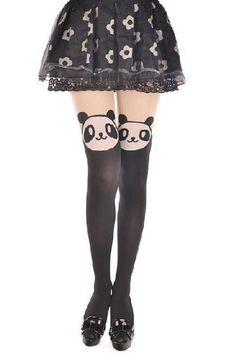 Panda Pantyhose Panda Pantyhose Panda Leggings Tattoo Stockings Sexy Pantyhose Panda Leggings PandaStockings Panda Tights Stockings (WZ9)