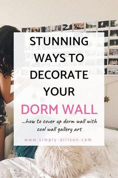 Looking for some dorm room gallery wall inspiration? Here are 7 gorgeous gallery. - Looking for some dorm room gallery wall inspiration? Here are 7 gorgeous gallery wall ideas to inco - Cozy Dorm Room, Dorm Room Walls, Diy Dorm Decor, College Dorm Decorations, Room Decor, Wall Decor, College Walls, College Dorm Rooms, College Dorm Checklist