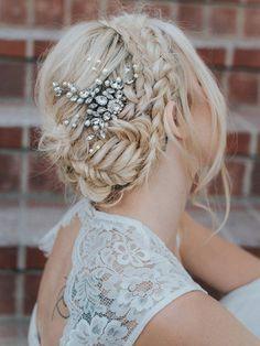 Römische Blatt Braut Haar Krone Boho Haarreif Haarschmuck Haarklammer