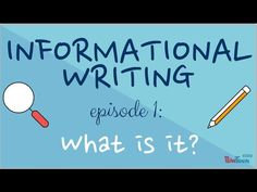 In this series, learn how to write your own informational book! More episodes with this series on YouTube.