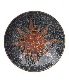 Love this Sunburst Mosaic Metal Bowl on #zulily! #zulilyfinds, $59 !!