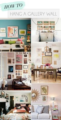 How to Hang a Gallery Wall! (Could really be in any room...)