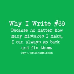 How would one go about fixing problems with writing?