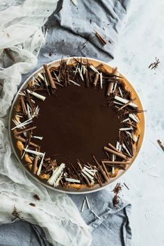 A rich, beautiful dessert , this tart features two layers of chocolate mousse, topped with a layer of rich ganache. Chocolate Garnishes, Chocolate Recipes, Chocolate Tarts, Baking Chocolate, Tart Recipes, Dessert Recipes, White Chocolate Mousse, Beautiful Desserts, Sweet Pie