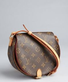 fd2ce99bf396 Louis Vuitton   brown monogram canvas vintage crossbody bag Vintage Bags