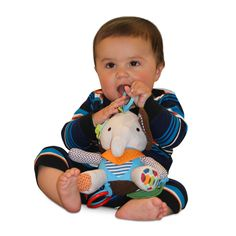 Ellie the Elephant Teether & Plush Toy | Relief from Teething Pain | Perfect for Stroller, Baby Carriage, Crib, Car Seat | Infants, Babies & Toddlers  BUY NOW!! Only $11.97