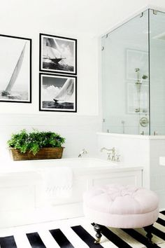 Looking to redecorate or update your bathroom? Add a plush chair next to your bathtub for sitting or laying your towels on. 11 interior design tips to making any bathroom look luxe: