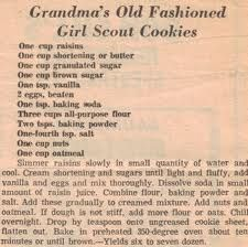 Grandma's Old-Fashioned Girl Scout Cookies vintage recipe