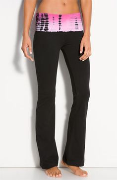 Hard Tail Roll Waist Flare Leg Pants available at Nordstrom