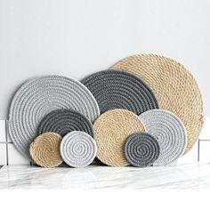 Jute Look Cotton Coasters/Placemats - Jute Placemat Sisal - Home Decor