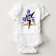Love Korean Martial Art-TaeKwonDo Baby Tutu Baby Bodysuit - baby gifts child new born gift idea diy cyo special unique design