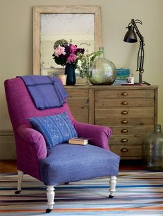 A mixture of texture and fabric can add a new style element to your home