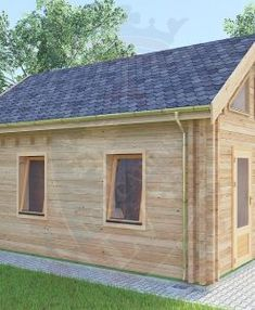 "Ref: 625 ""Maidstone"" Log Cabin x Log Cabins ft x ft Cabin size internal - x Kitchen size - x Bedroom size - x Bathroom size - x Kitchen Size, Pine Boards, Window Sizes, Bedroom Size, Toilet Room, Tiny House Cabin, Little Cabin, Shed, Outdoor Structures"