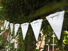 How to make paper doily bunting.