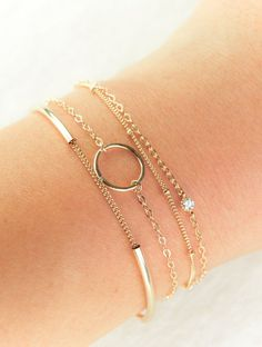 Ho'okele bracelet minimal gold bracelet, layered bracelets, arm party, delicate ...