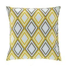 Yellow Pillow Cover- Yellow Diamond Pillow Cover - Modern Decorative Accent Lumbar Pillow or Euro Sham Yellow Pillow Covers, Yellow Pillows, Decorative Pillow Covers, Throw Pillow Covers, Throw Cushions, Bed Pillows, Modern Decorative Accents, A 17