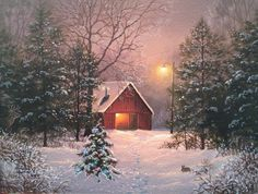 57 ideas painting landscape winter beautiful for 2019 Painting Walls Tips, Mural Painting, Autumn Scenes, Snow Scenes, Winter Painting, Winter Art, Autumn Art, Christmas Scenes, Christmas Art